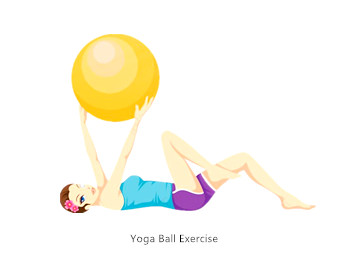 6 Yoga Ball Movements for Home Workout