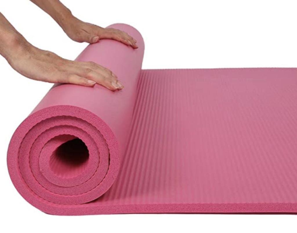 thick yoga mat?