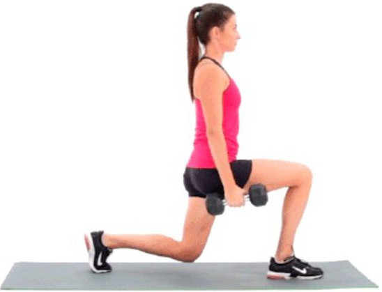 Dumbbell lunge and squats