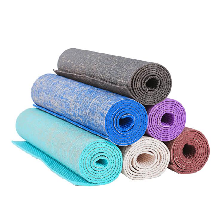 Hemp + PVC Yoga Mat