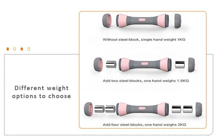 Lady Home-use Small 5-in-1 Adjustable Weight Dumbbell