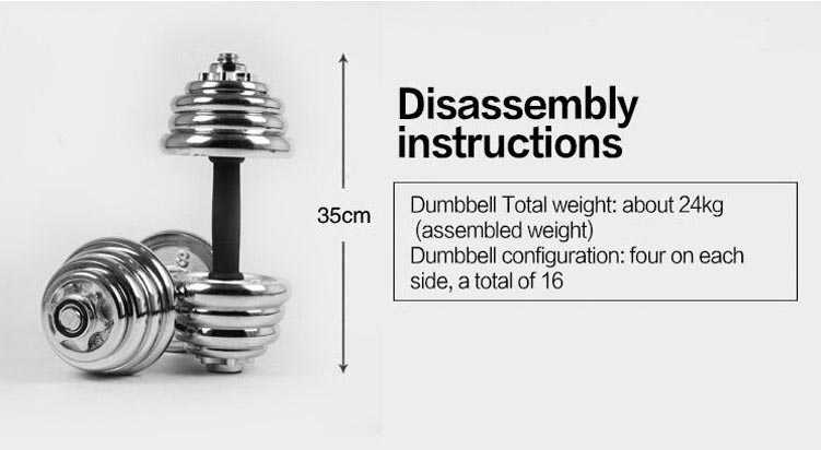 Stainless Steel Adjustable Dumbbell Set Suitable For Home/Gym
