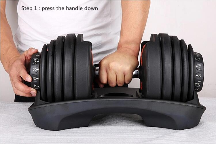 Adjustable Dumbbell with 15 weight settings