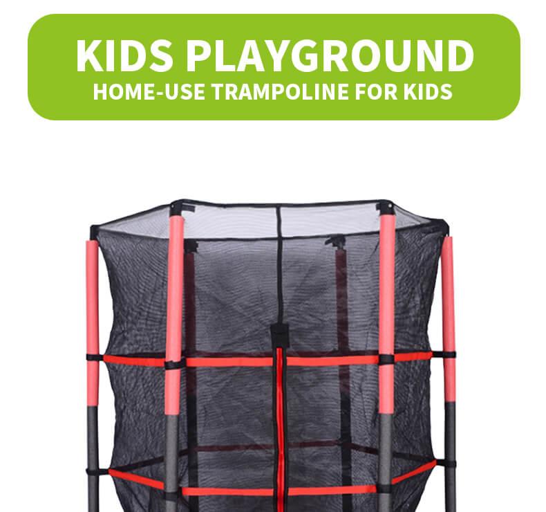 55 Inch Round Trampoline with Enclosure Net