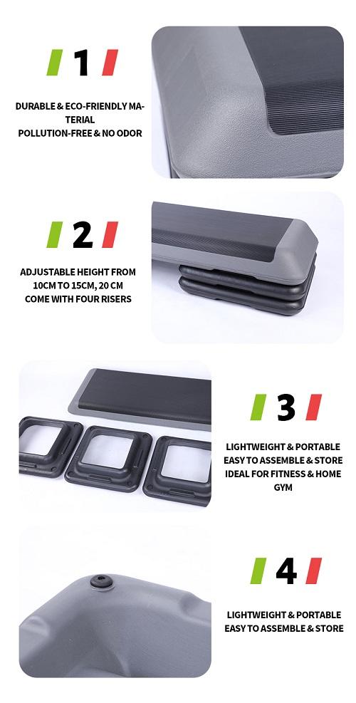 Adjustable Step Board Fitness Plastic Cheap Aerobic Step Platform