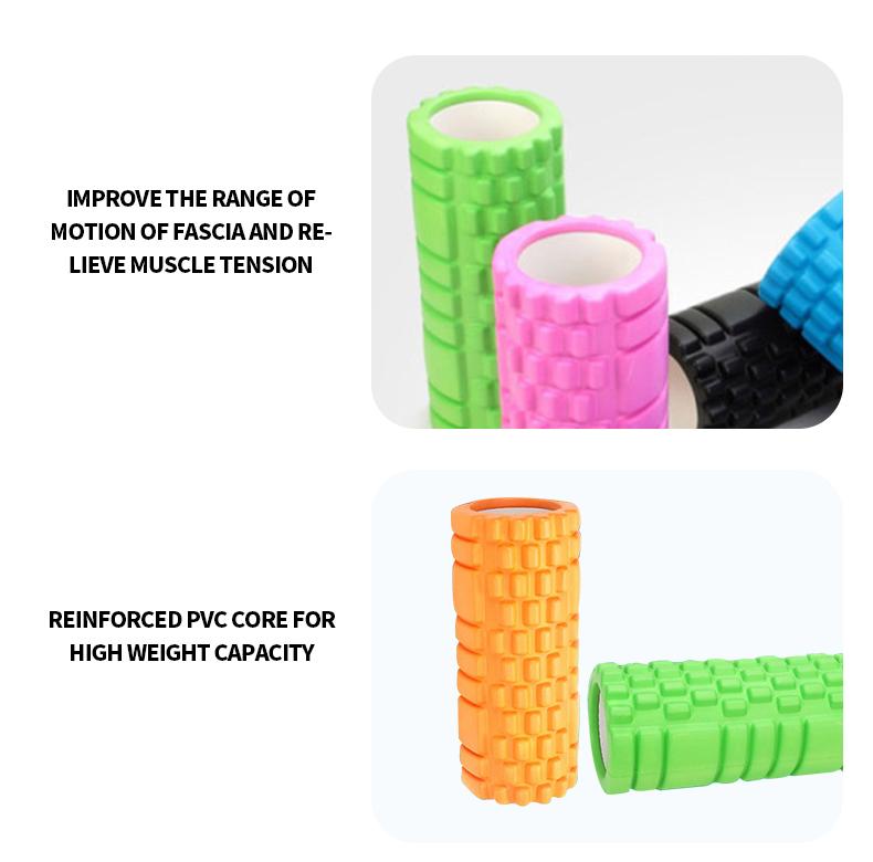 Custom Color Size Logo Gym Round EVA Mace Yoga Foam Roller Set with Spinal