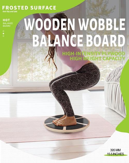Balance Training  Wooden Wobble Balance Board