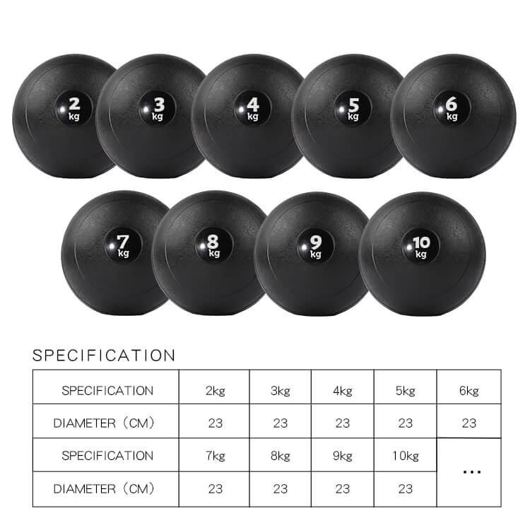 PVC Stone No Bounce Slam Ball Wall Medicine Ball