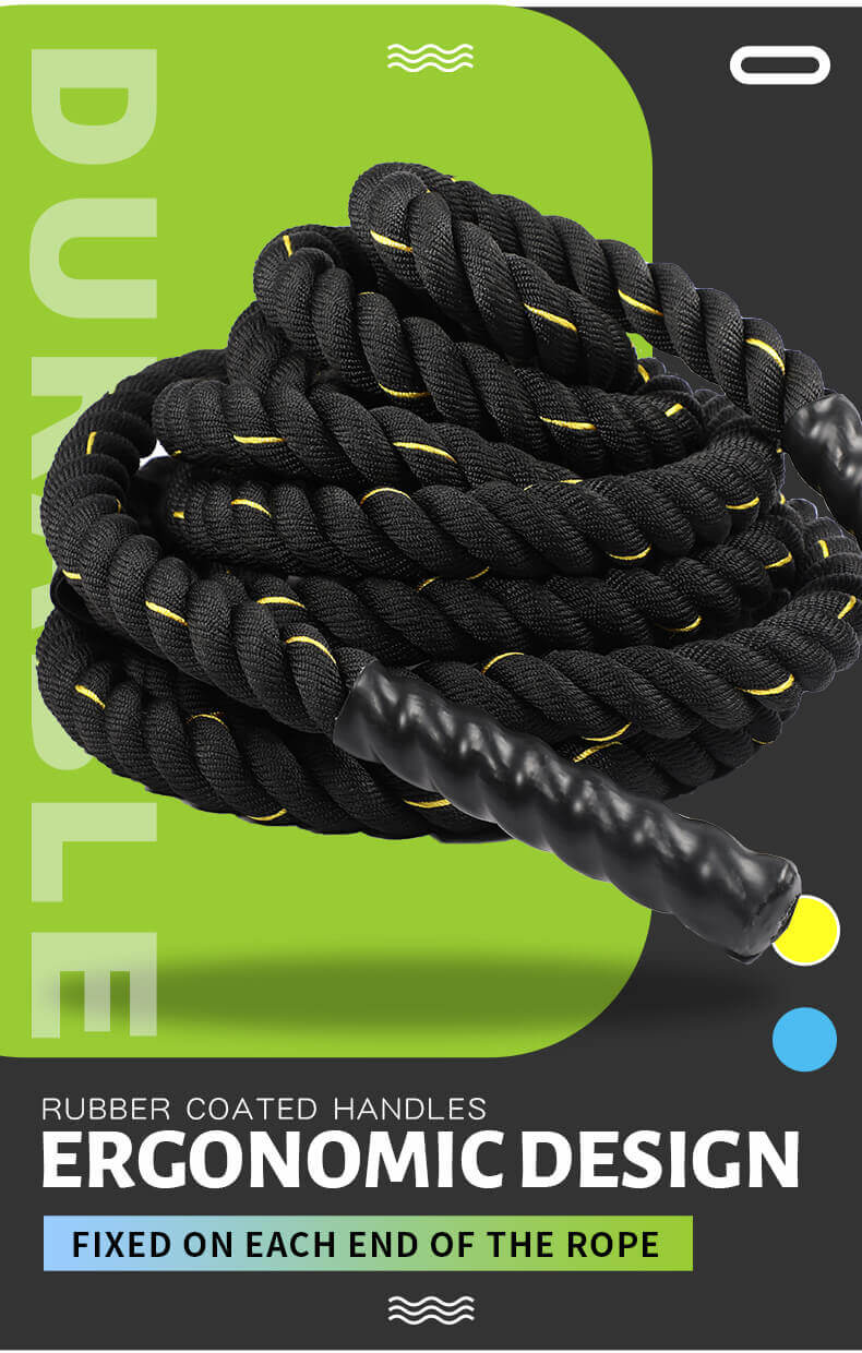 High Quality Body Building Battle Rope with Nylon Cover