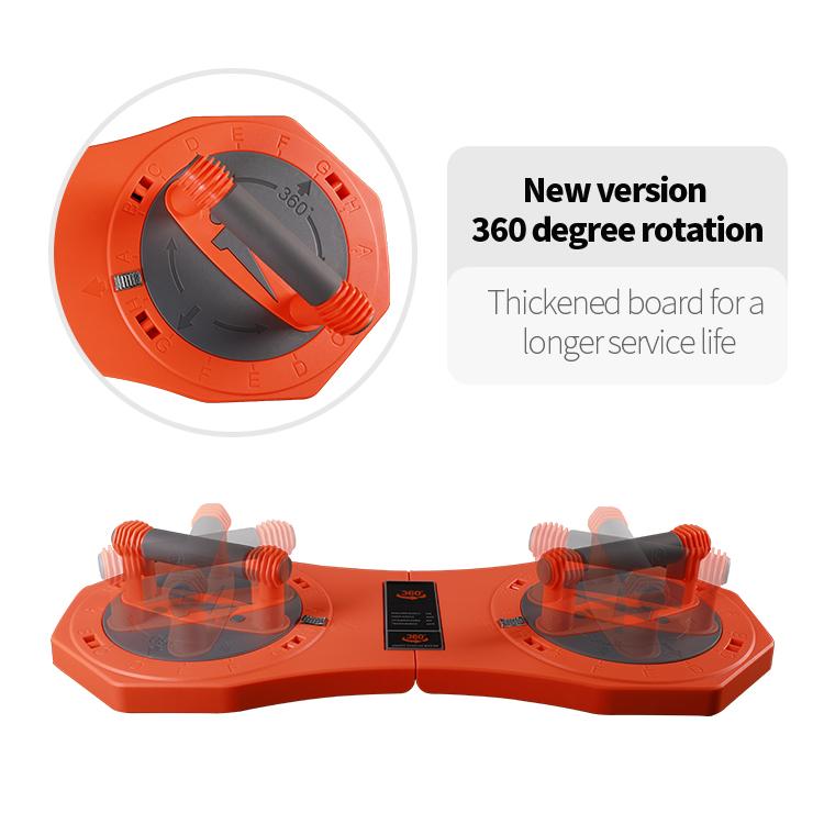 Orange Color Rotating Pushup Board