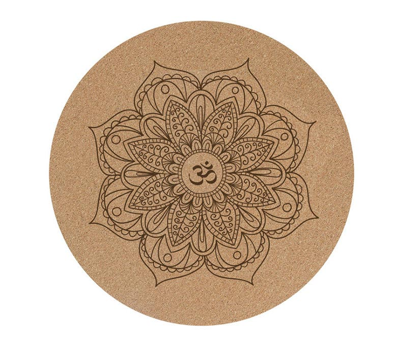 Rounded Cork & Natural Rubber Yoga Mat