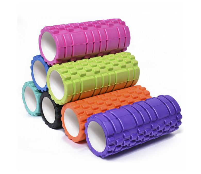 Custom Color Size Logo Gym Round EVA Mace Yoga Foam Roller Set with Spinal