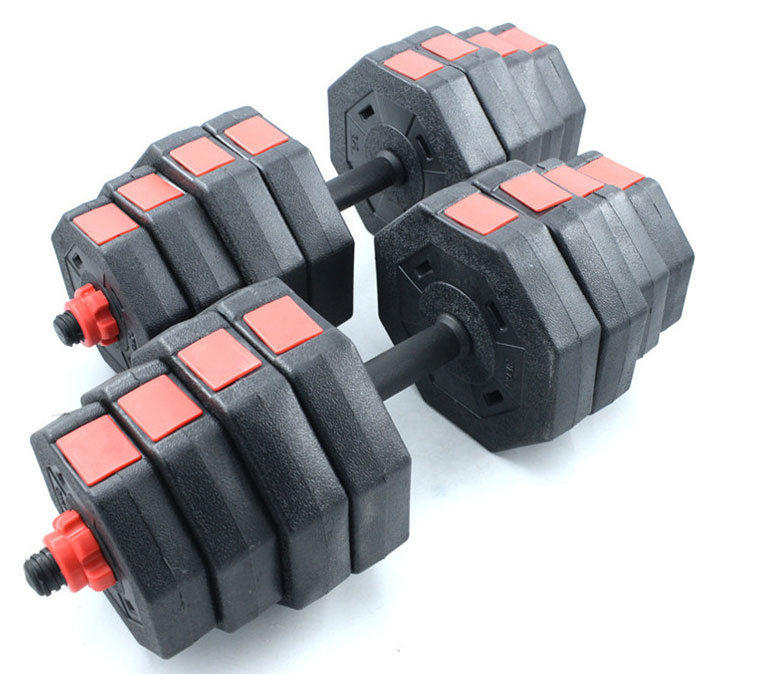 Dumbells/Barbell 2 in 1 Ajustables Dumbbells Set with Rack