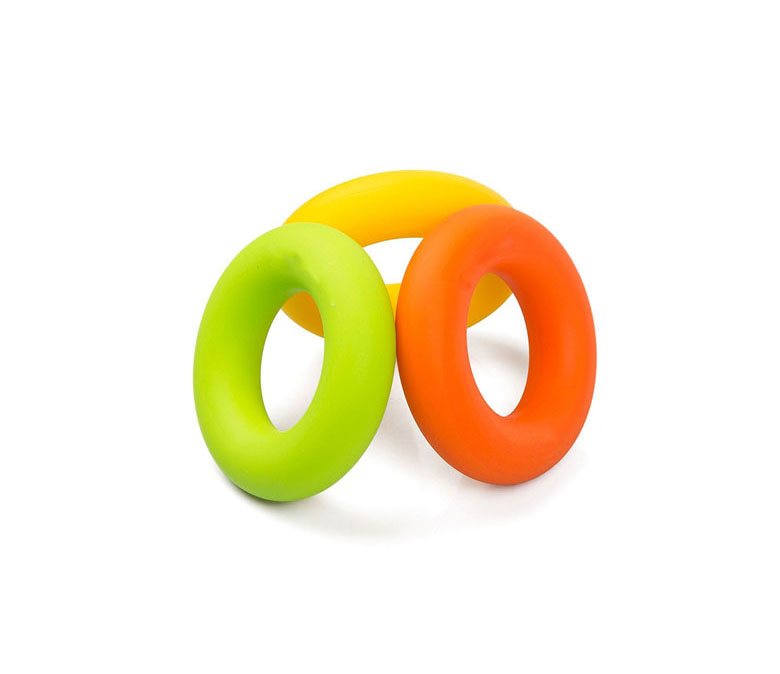 Easy Carry Silicon Rubber Hand Grip Ring Strength Trainer