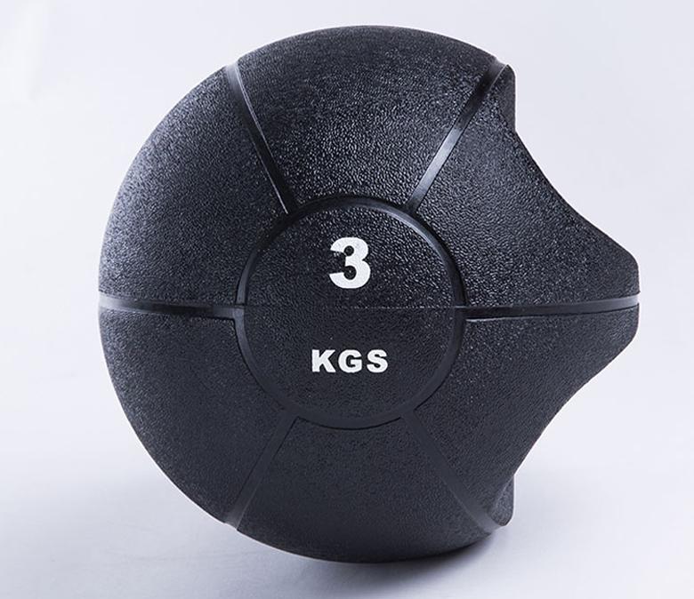 Strength Training Exercise Comfort Textured Grip Rubber Medicine Ball
