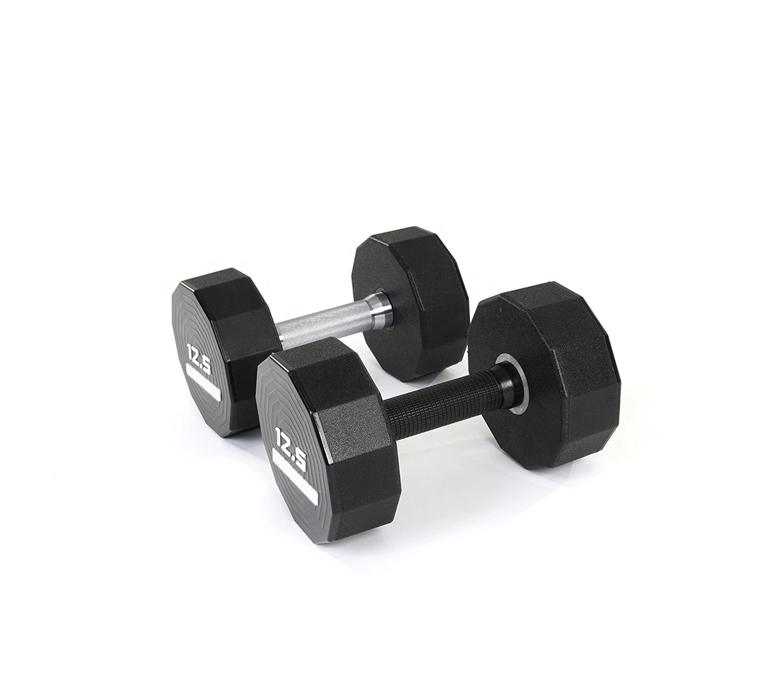 Weightlifting Hard Chrome Plated Handles Urethane CPU Dumbbells