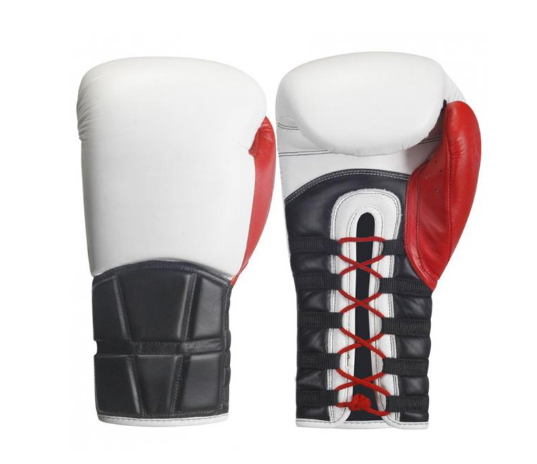 High Quality Leather Customized Color Professional Lace Up Boxing Gloves