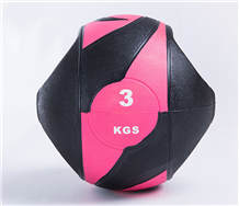 Wholesale 1~10Kg Black Gym Rubber Single Grip with Handle Medicine Ball