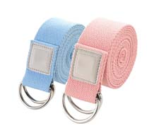 Wholesale Non-Elastic Yoga Strap/Stretch Band with Buckle